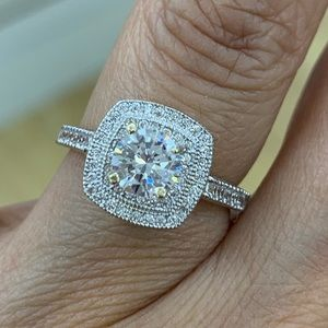 1ct Round Engagement Ring sizes 5 6 7 8 9